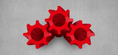 Red Vines shaped into helical gears